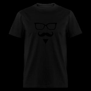 Hipster Sunglasses triangle Face Mustache Beard - Men's T-Shirt