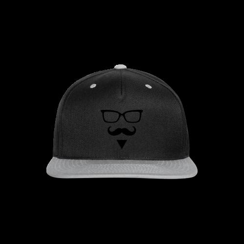 Hipster Sunglasses triangle Face Mustache Beard - Snap-back Baseball Cap