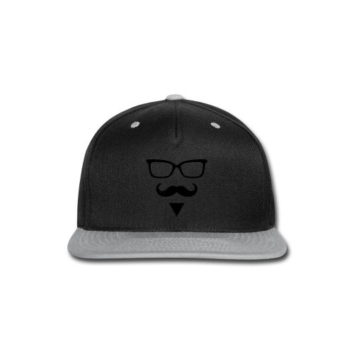 Hipster Sunglasses triangle Face Mustache Beard - Snap-back Baseball Cap