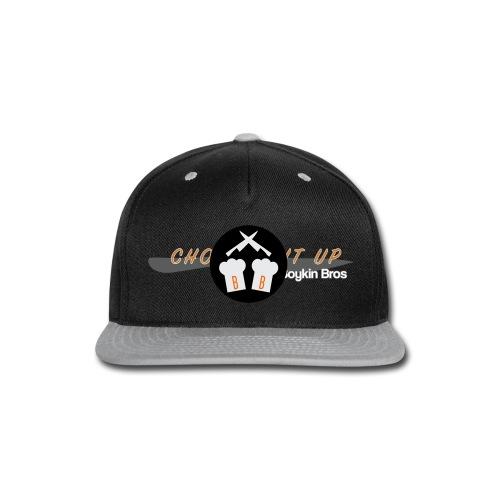 Boykin Bros. Choppin' it up w/ Logo on back - Snap-back Baseball Cap