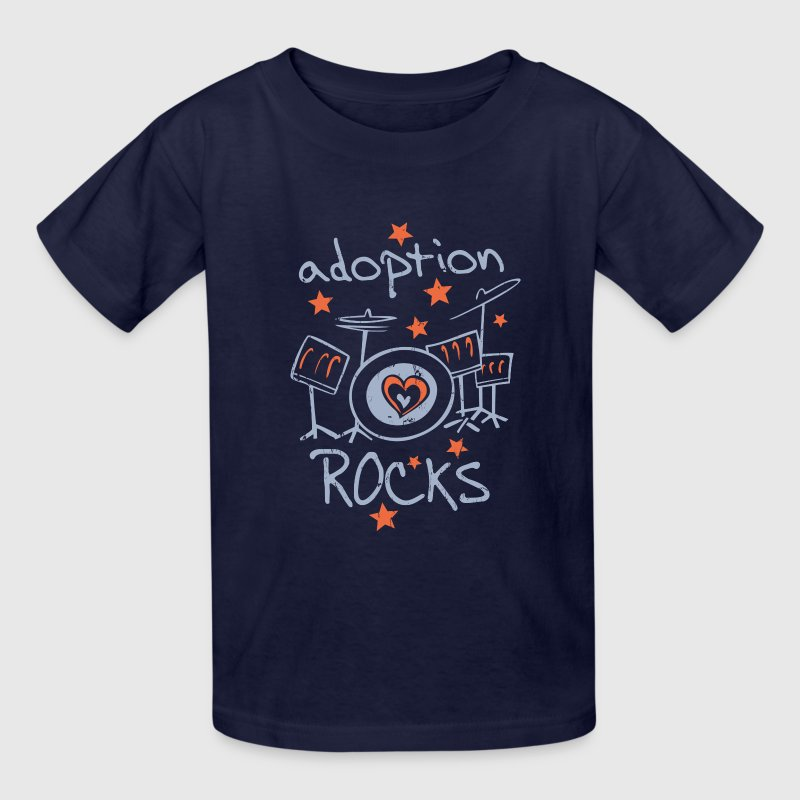 Adoption Rocks Kids' Shirts - Kids' T-Shirt