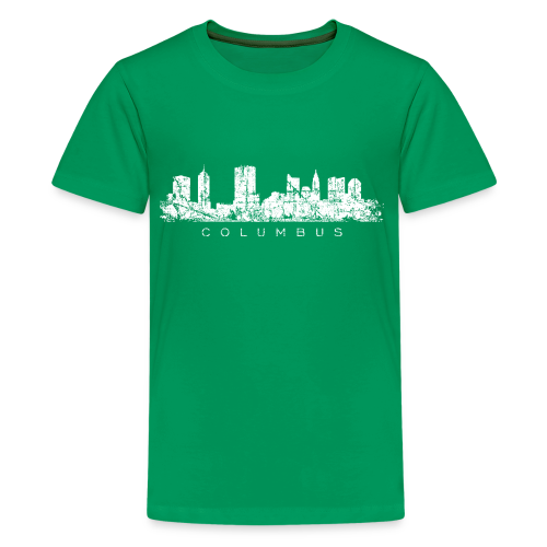 Columbus, Ohio Skyline Vintage White
