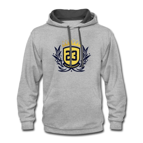 The King Of Basketball - Blue - Contrast Hoodie