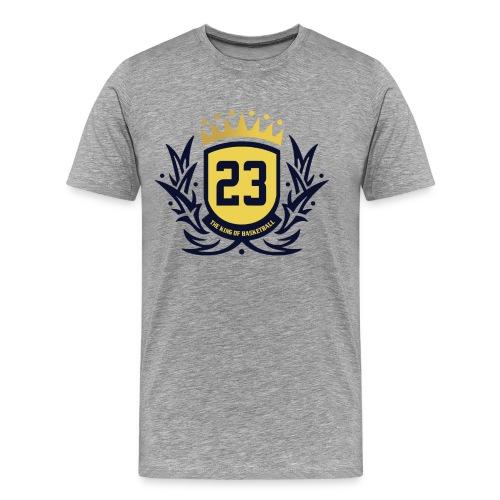 The King Of Basketball - Blue - Men's Premium T-Shirt