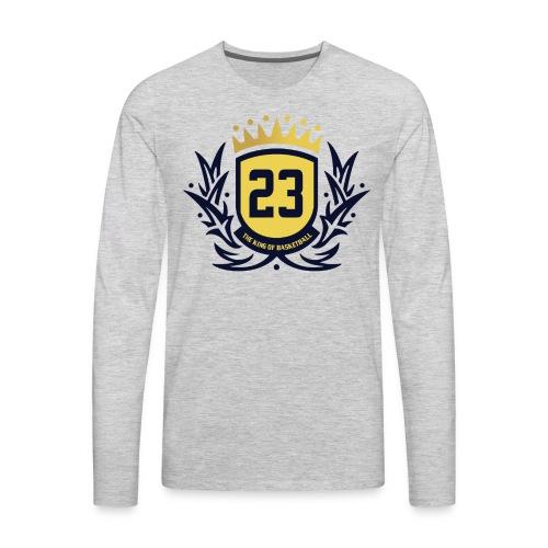 The King Of Basketball - Blue - Men's Premium Long Sleeve T-Shirt