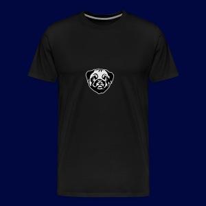 Pug Winter Hat - Men's Premium T-Shirt