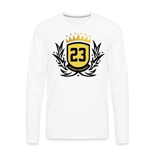The King Of Basketball - Black - Men's Premium Long Sleeve T-Shirt