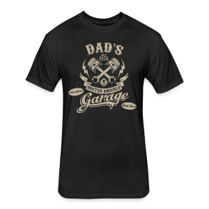 Dad's garage - Fitted Cotton/Poly T-Shirt by Next Level