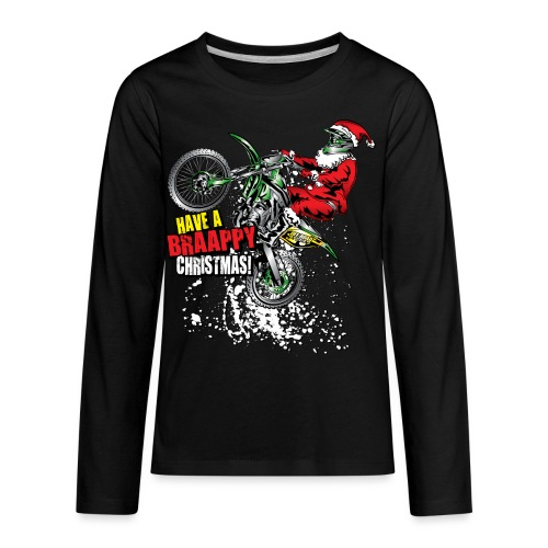 Dirt Bike Moto Santa - Kids' Premium Long Sleeve T-Shirt