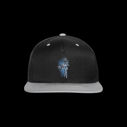 Blue Halftone Motocross - Snap-back Baseball Cap