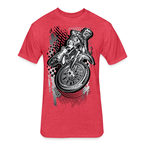 Extreme Dirt Biker - Fitted Cotton/Poly T-Shirt by Next Level