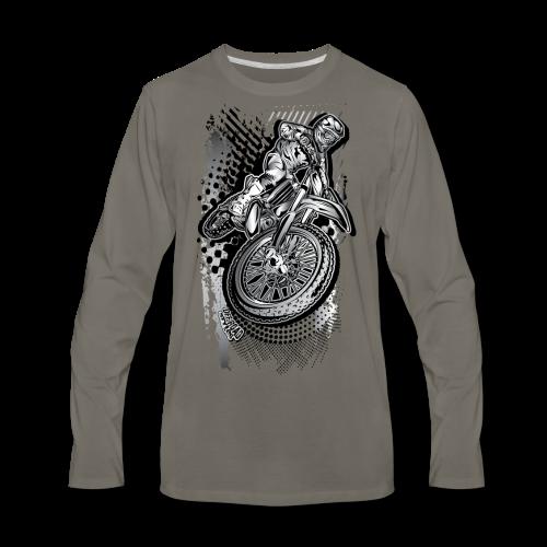 Extreme Dirt Biker - Men's Premium Long Sleeve T-Shirt