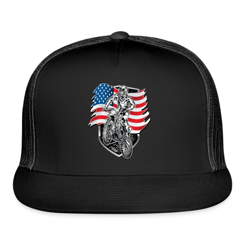 USA Flag Motocross - Trucker Cap