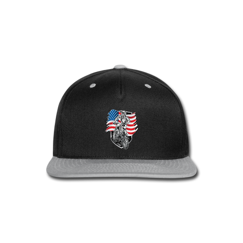 USA Flag Motocross - Snap-back Baseball Cap