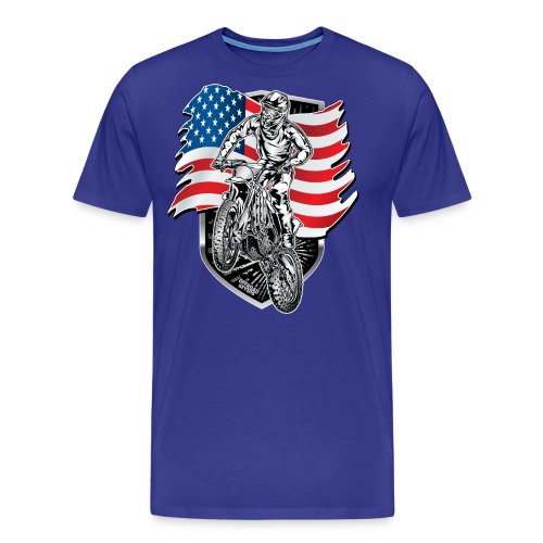 USA Flag Motocross - Men's Premium T-Shirt