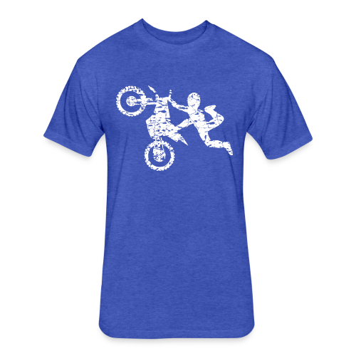 Freestyle Dirt Biker - Fitted Cotton/Poly T-Shirt by Next Level