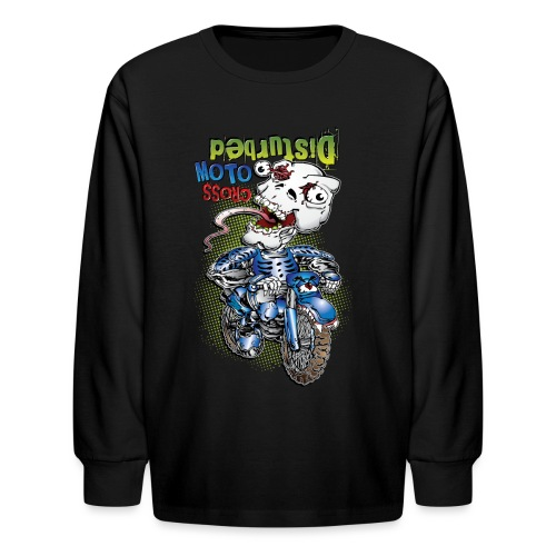 Freaky Skull Biker - Kids' Long Sleeve T-Shirt