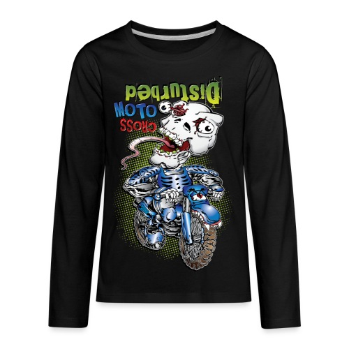Freaky Skull Biker - Kids' Premium Long Sleeve T-Shirt