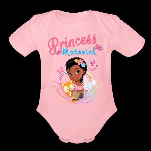 Princess Material - Organic Short Sleeve Baby Bodysuit