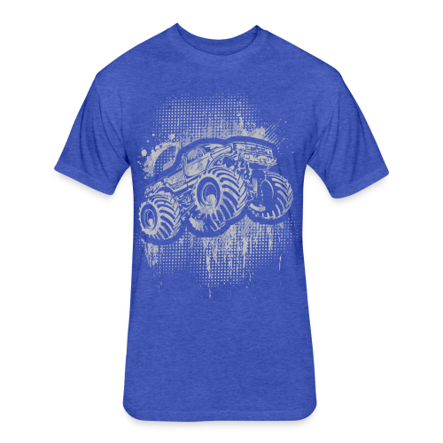 Monster Truck Grungy - Fitted Cotton/Poly T-Shirt by Next Level