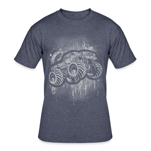Monster Truck Grungy - Men's 50/50 T-Shirt
