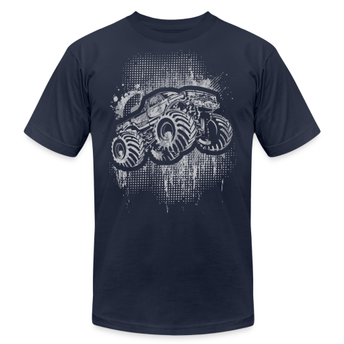 Monster Truck Grungy - Men's Fine Jersey T-Shirt