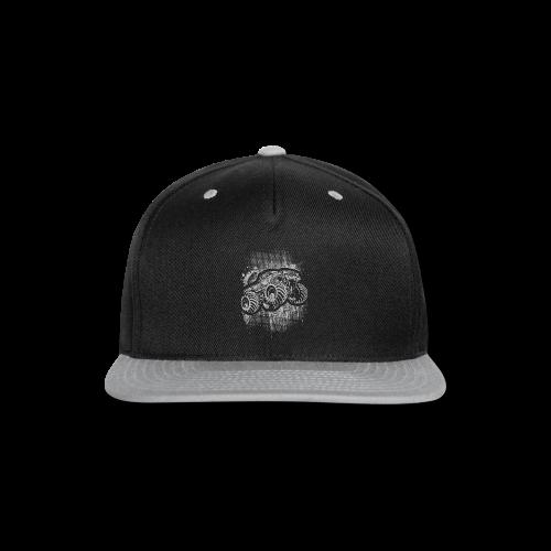 Monster Truck Grungy - Snap-back Baseball Cap