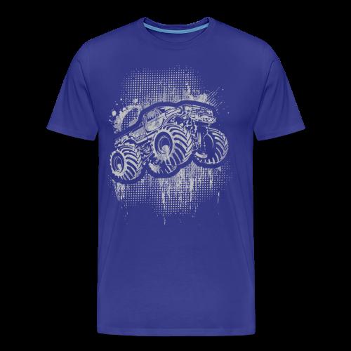 Monster Truck Grungy - Men's Premium T-Shirt