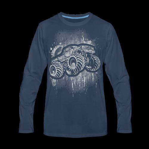 Monster Truck Grungy - Men's Premium Long Sleeve T-Shirt