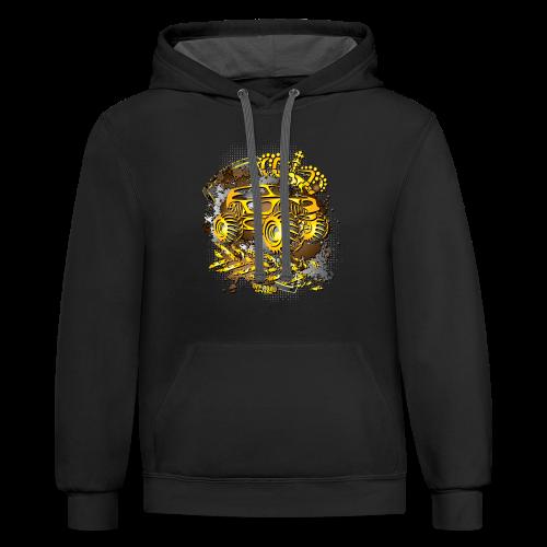 Golden Monster Truck Shirt - Contrast Hoodie