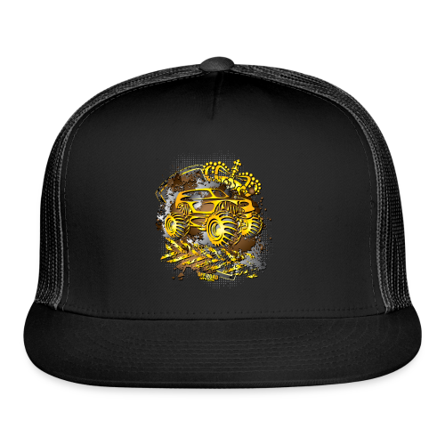 Golden Monster Truck Shirt - Trucker Cap
