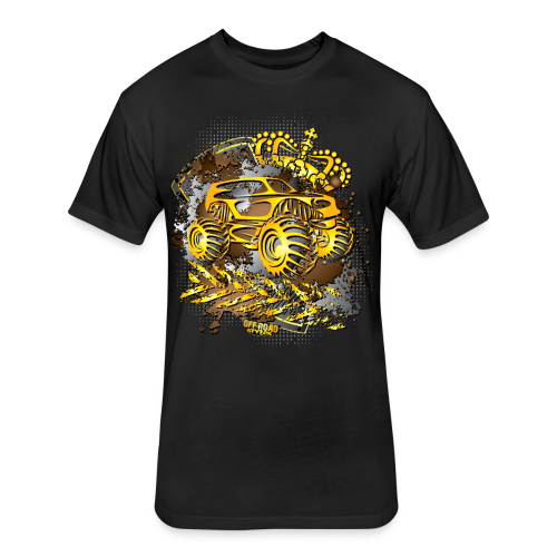 Golden Monster Truck Shirt - Fitted Cotton/Poly T-Shirt by Next Level