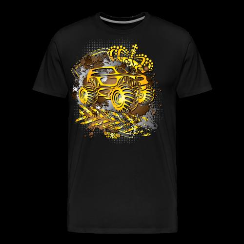 Golden Monster Truck Shirt - Men's Premium T-Shirt