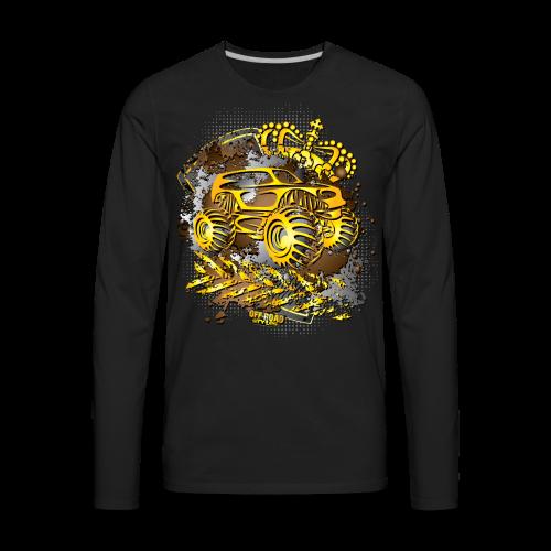Golden Monster Truck Shirt - Men's Premium Long Sleeve T-Shirt