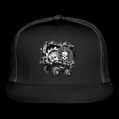 Matallic Monster Truck Shirt - Trucker Cap