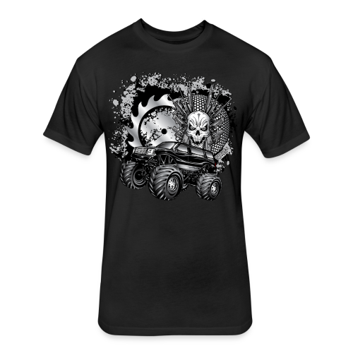 Matallic Monster Truck Shirt - Fitted Cotton/Poly T-Shirt by Next Level