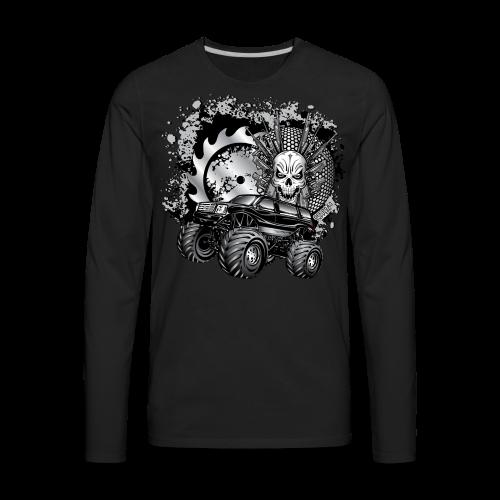 Matallic Monster Truck Shirt - Men's Premium Long Sleeve T-Shirt