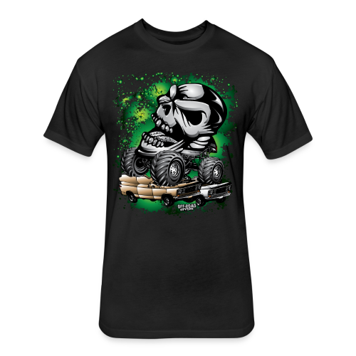 Monster Skull Truck - Fitted Cotton/Poly T-Shirt by Next Level