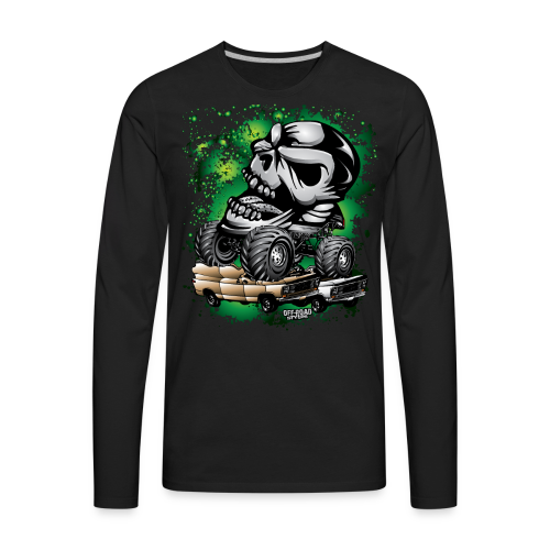Monster Skull Truck - Men's Premium Long Sleeve T-Shirt