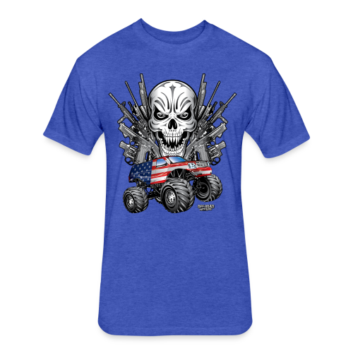 Monster Truck Shirt USA - Fitted Cotton/Poly T-Shirt by Next Level
