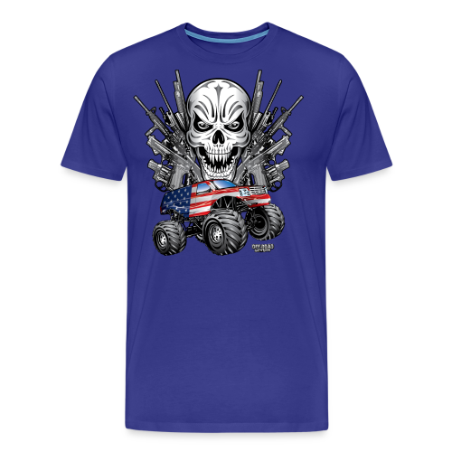 Monster Truck Shirt USA - Men's Premium T-Shirt