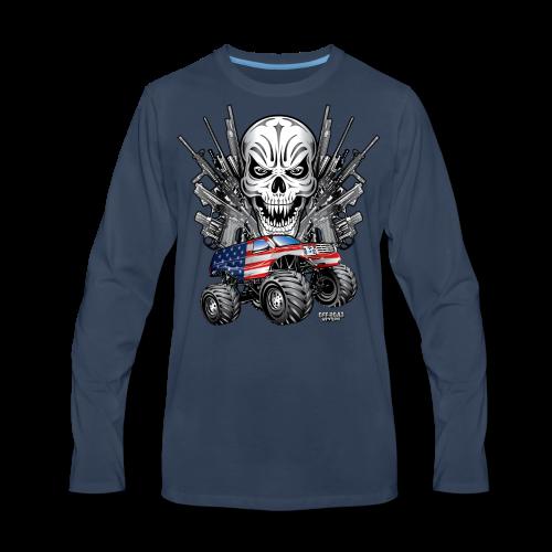 Monster Truck Shirt USA - Men's Premium Long Sleeve T-Shirt