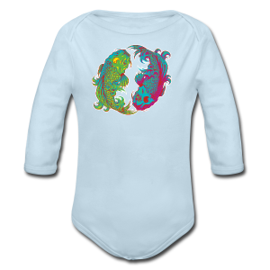 Yin Yang Koi - Long Sleeve Baby Bodysuit