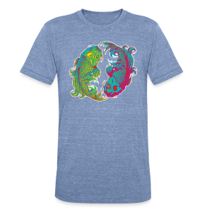 Yin Yang Koi - Unisex Tri-Blend T-Shirt by American Apparel