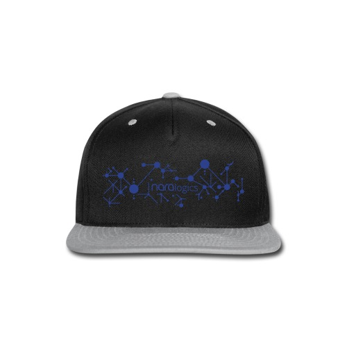Network / no slogan (Metallic Silver) - Snap-back Baseball Cap