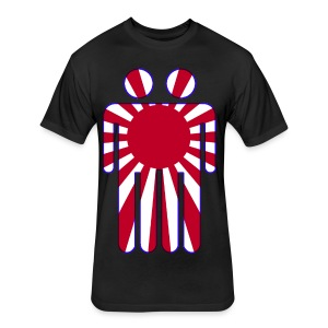 Blunt Headed The Man In The High Castle Japanese Flag - Fitted Cotton/Poly T-Shirt by Next Level