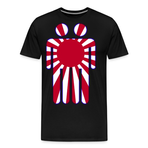 Blunt Headed The Man In The High Castle Japanese Flag - Men's Premium T-Shirt