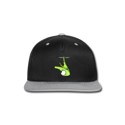 Funny Green Ostrich T-shirt - Snap-back Baseball Cap