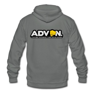 ADV On Every Mile 16 - Unisex Fleece Zip Hoodie by American Apparel