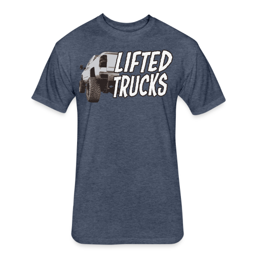 Lifted Trucks - Fitted Cotton/Poly T-Shirt by Next Level